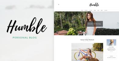قالب Humble - قالب سایت شخصی وردپرس