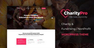 قالب Charity Pro - قالب وردپرس جمع آوری وجوه