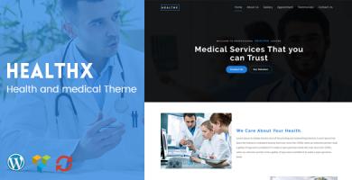 قالب HealthX - قالب وردپرس سلامتی و پزشکی