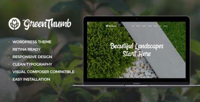 قالب Green Thumb - قالب وردپرس باغبانی و محوطه سازی