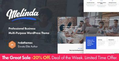 قالب Melinda - قالب وردپرس چند منظوره کسب و کار