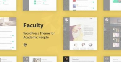 قالب فکولتی | Faculty - قالب وردپرس سایت شخصی