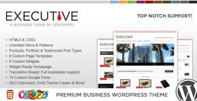 WP Executive - قالب کسب و کار و نمونه کارها