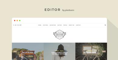 قالب Editor - قالب وردپرس بلاگرها