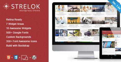 قالب Strelok - قالب وردپرس وبلاگ