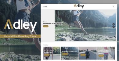 قالب Adley - قالب وبلاگ وردپرس شخصی