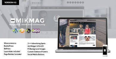 قالب MikMag - مجله، بادی پرس، بی بی پرس و ووکامرس
