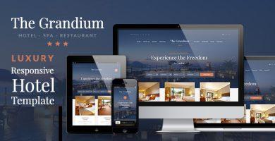 قالب Grandium - قالب وردپرس هتل
