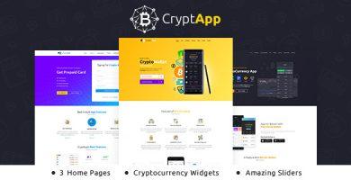 قالب CryptApp Landing Page - پوسته صفحه فرود ارز دیجیتال
