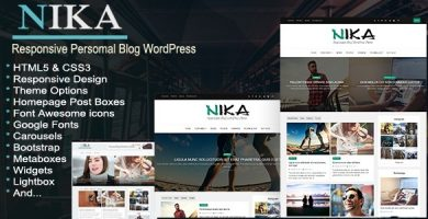 قالب Nika - قالب وردپرس سایت شخصی