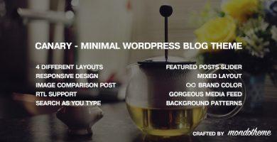 قالب Canary - قالب وردپرس وبلاگی مینیمال