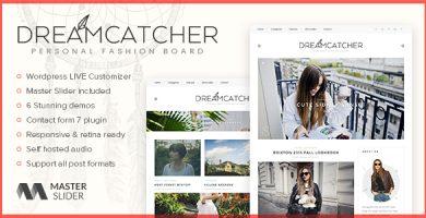 قالب Dreamcatcher - قالب وبلاگ وردپرس شخصی