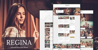قالب Regina Blog - قالب وبلاگ وردپرس