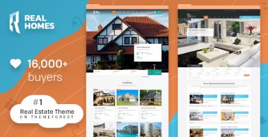 قالب ریل هوم | Real Homes - قالب املاک وردپرس