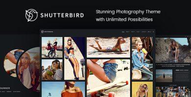 قالب Shutterbird Photography - قالب وردپرس عکاسی