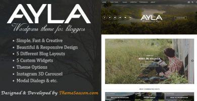 Ayla - قالب وبلاگ وردپرس ریسپانسیو