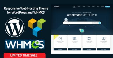 قالب Valence - قالب وردپرس وب سایت فروش هاست + قالب WHMCS
