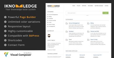 قالب iKnowledge - قالب سایت پایگاه دانش و ویکی