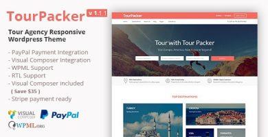 قالب Tour Packer - قالب وردپرس آژانس مسافرتی