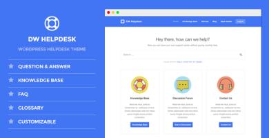 قالب DW Helpdesk - قالب وردپرس پایگاه دانش