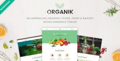 قالب اورگانیک | Organik - پوسته فروشگاهی وردپرس
