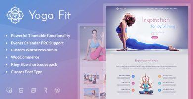 Yoga Fit - قالب وردپرس ورزشی، تناسب اندام و باشگاه