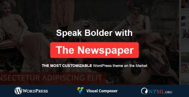 قالب News Paper - قالب ریسپانسیو مجله برای وردپرس