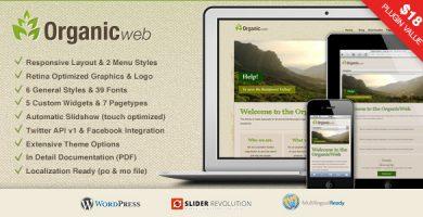 قالب Organic Web - قالب وردپرس محیط زیست