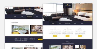 قالب Luxury - قالب وردپرس هتل و رستوران