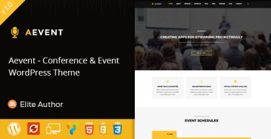 قالب Aevent - قالب وردپرس کنفرانس و رویداد