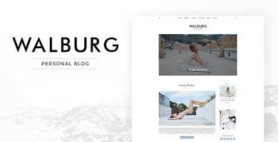 قالب Walburg - پوسته وبلاگ شخصی وردپرس