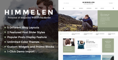 قالب Himmelen - قالب وبلاگ وردپرس شخصی