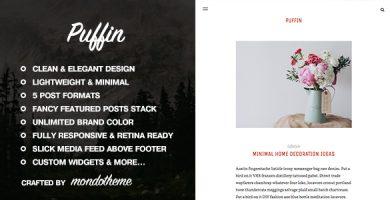 قالب Puffin - قالب وبلاگ وردپرس