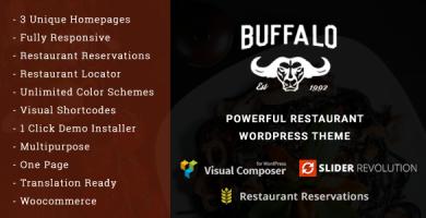 قالب Buffalo - قالب وردپرس کافه و رستوران