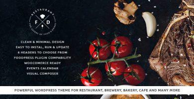 قالب Food & Drink - پوسته وردپرس رستوران و کافه