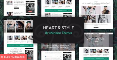 قالب Heart & Style - قالب مجله ریسپانسیو