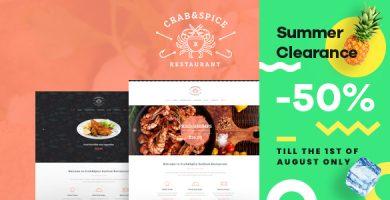 قالب Crab & Spice - قالب وردپرس رستوران و کافی شاپ