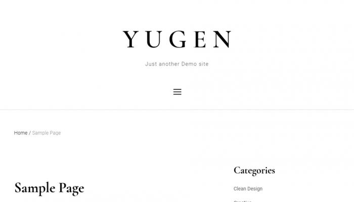 پیش نمایش دسکتاپ قالب وردپرس Yugen