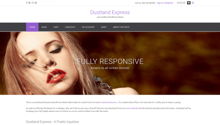 پیش نمایش دسکتاپ قالب وردپرس Dustland Express