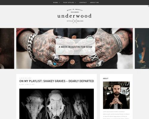 دانلود رایگان قالب وردپرس Underwood Lite