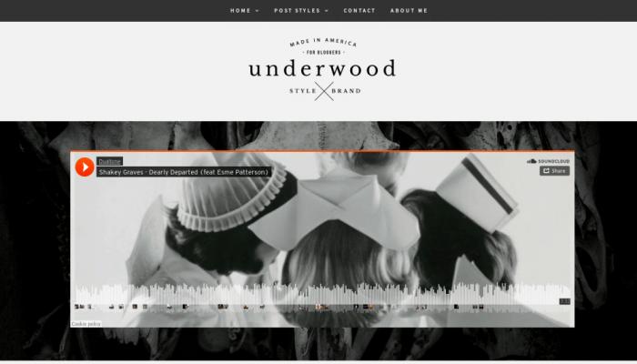 پیش نمایش دسکتاپ قالب وردپرس Underwood Lite