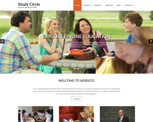 دانلود رایگان قالب وردپرس Study Circle