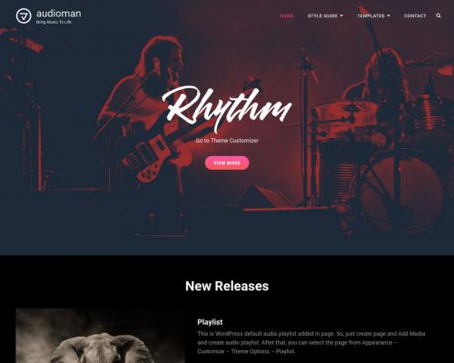 دانلود رایگان قالب وردپرس Audioman