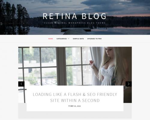 دانلود رایگان قالب وردپرس Retina Blog