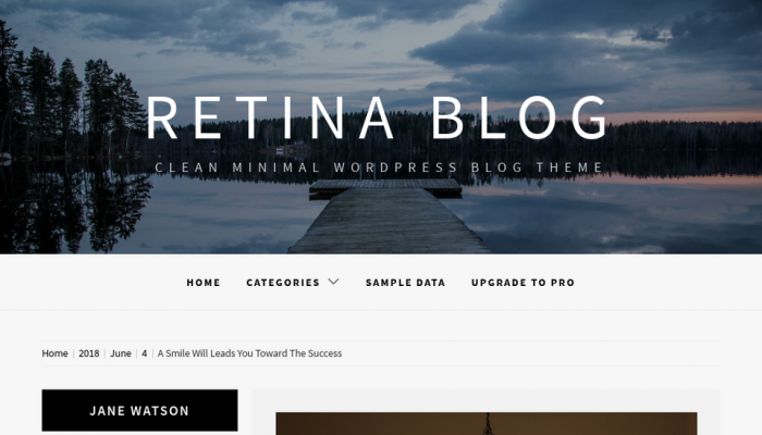 پیش نمایش دسکتاپ قالب وردپرس Retina Blog