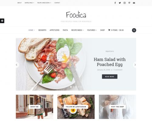 دانلود رایگان قالب وردپرس Foodica