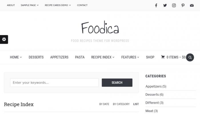 پیش نمایش دسکتاپ قالب وردپرس Foodica