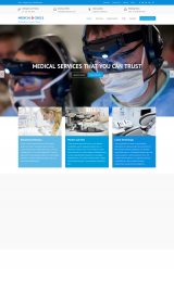 پیش نمایش موبایل قالب وردپرس Medical Circle
