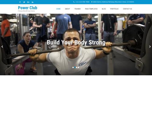 دانلود رایگان قالب وردپرس Powerclub Lite