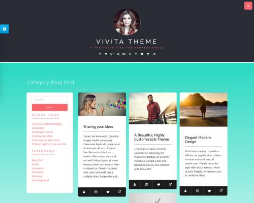 دانلود رایگان قالب وردپرس Vivita